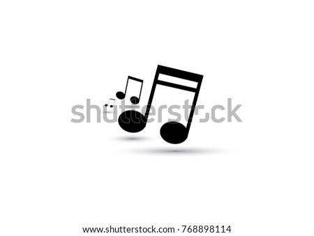 Musical note Icon - Vector illustration.