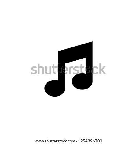 musical note icon vector. musical note vector graphic illustration