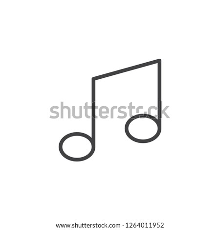 Musical note outline icon. linear style sign for mobile concept and web design. Music notes simple line vector icon. Symbol, logo illustration. Pixel perfect vector graphics