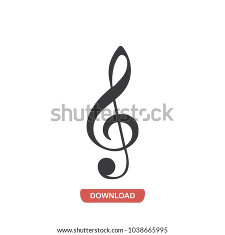 Musical note vector icon