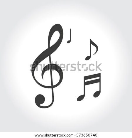Musical note - Vector icon