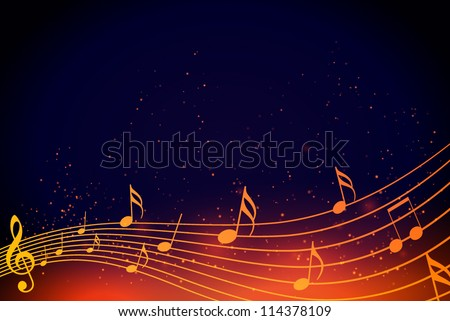 Musical notes abstract background. Vector illustration EPS10. - stock vector