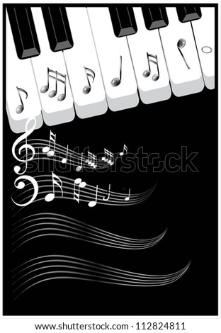 Musical notes background for cover design. Vector illustration.