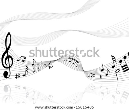 musical notes background. stock vector : Musical notes