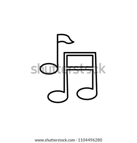 musical notes icon. Element of web icon for mobile concept and web apps. Thin line musical notes icon can be used for web and mobile. Premium icon on white background