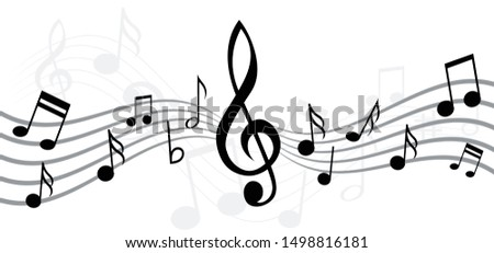 musical notes stave line