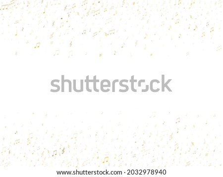 Musical notes symbols flying vector illustration. Notation melody record icons. Song festival background. Gold metallic melody sound notation. Photo stock ©