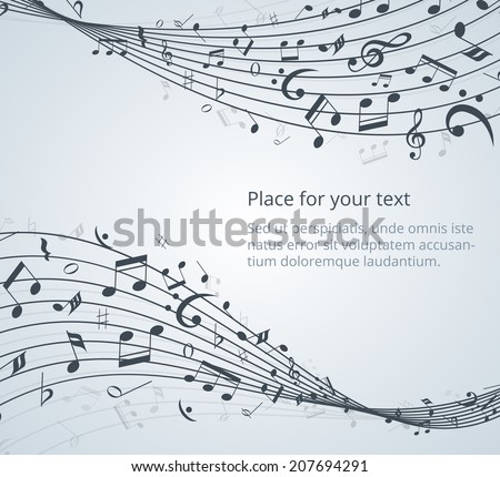 musical notes vector background