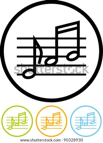 Musical notes - Vector icon isolated on white