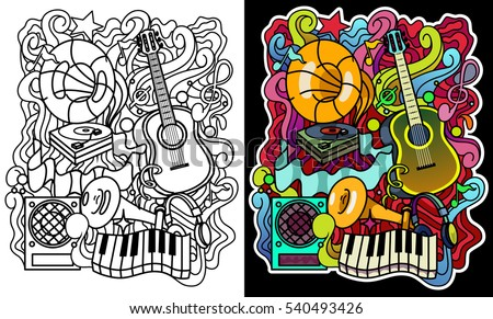 musical ornament for coloring