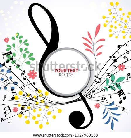 musical spring background with
