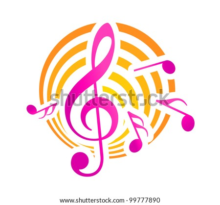 Musical symbol, such logo. Jpeg version also available in gallery