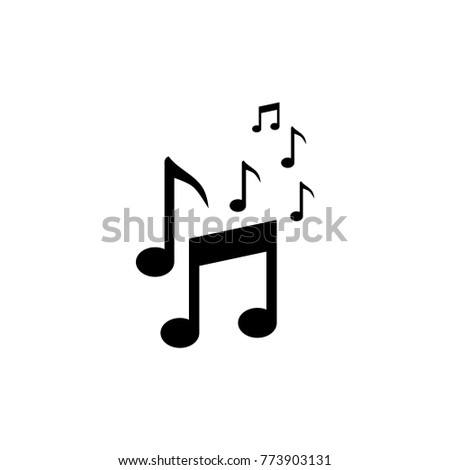 Musical symbols vector icon