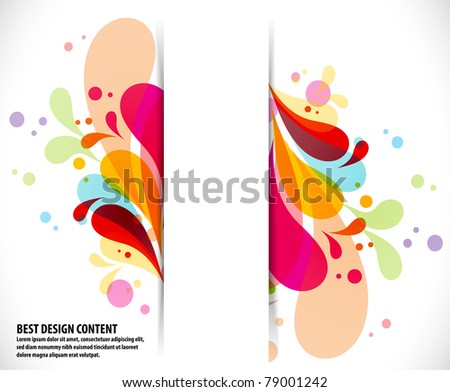 Musical theme disco background with circles and splash, Editable Illustration