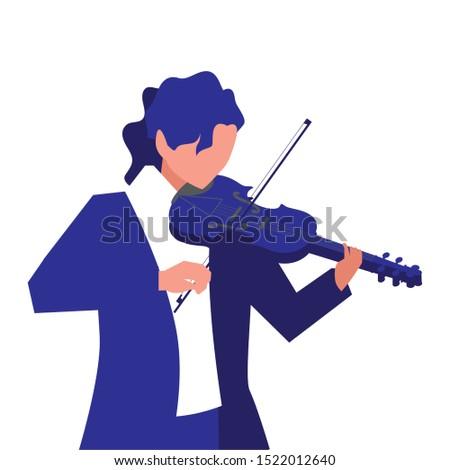 musician man violin playing