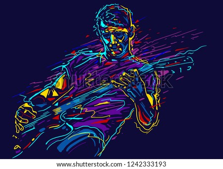 musician with a guitar rock