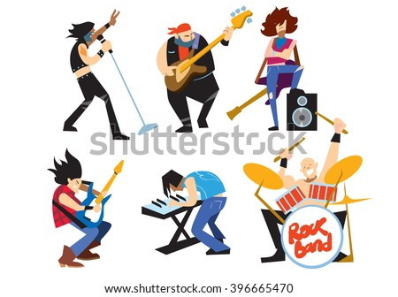 musicians rock group isolated