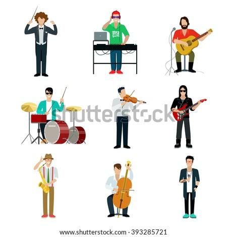 musicians showman flat web
