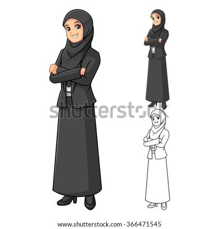 muslim businesswoman wearing