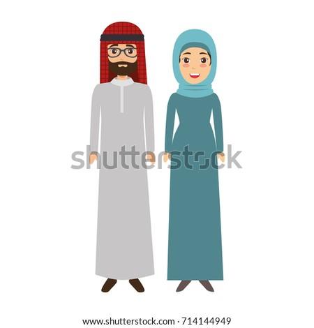 muslim couple avatars characters