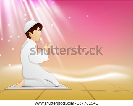 muslim kid in traditional dress