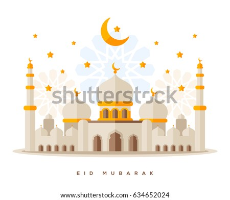 muslim mosque isolated on white