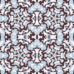 Muslim mosque seamless pattern graphic design. Moroccan geometric tile ornament. Wallpaper seamless pattern. Traditional islamic abstract flower geometric ornament.  Mosque decoration elements.