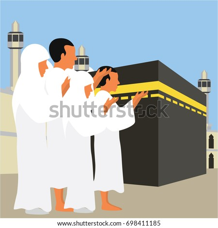 muslim pilgrims perform hajj