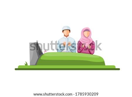 muslim visit and praying in