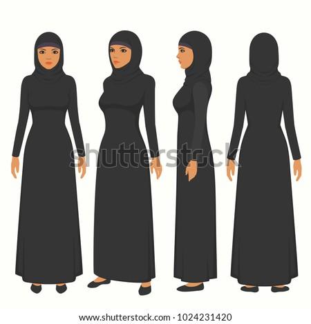 muslim woman illustration
