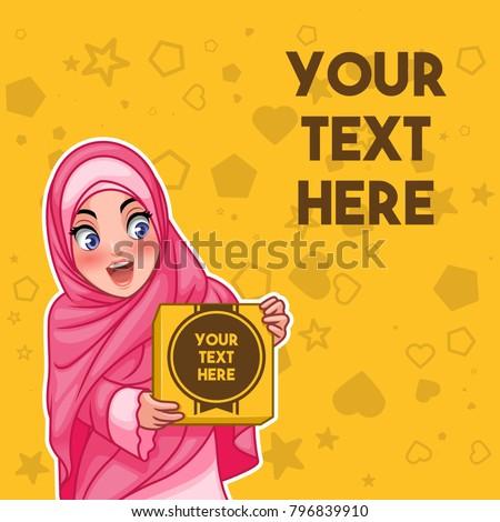 muslim woman wearing hijab veil