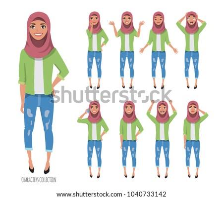 muslim young woman wearing