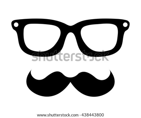 05932fa1bb3 mustache and glasses hipster style isolated icon design  438443800