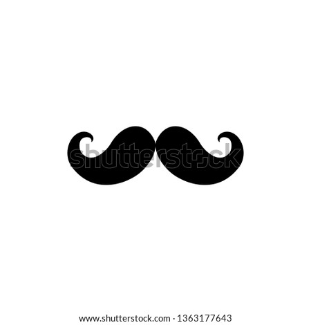Mustache black icon vector illustration