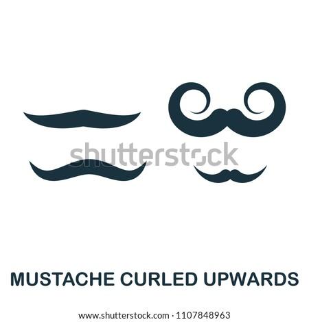 mustache curled upwards icon