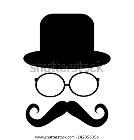 stock-vector-mustache-glasses-and-a-hat