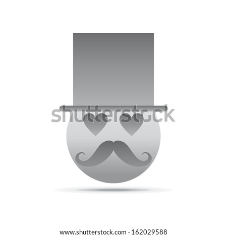 mustache guy emotion icon face