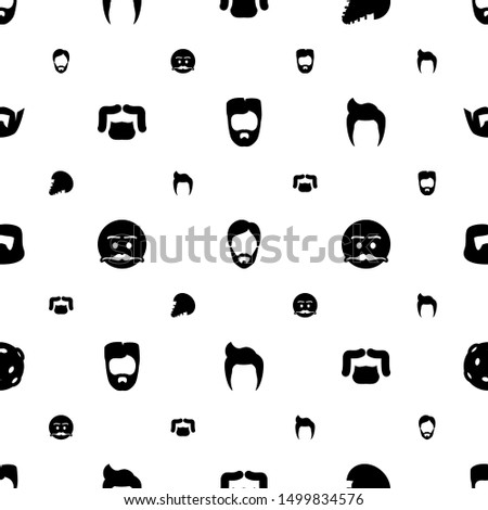 mustache icons pattern seamless white background. Included editable filled man hairstyle, extinct sea creature, emot with mustache icons. mustache icons for web and mobile.