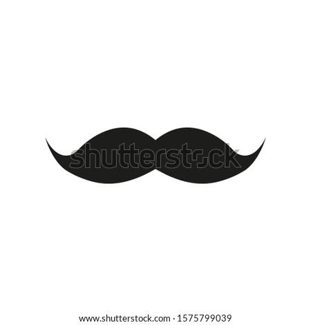 Mustache. Mustache icon on a white background. Vector