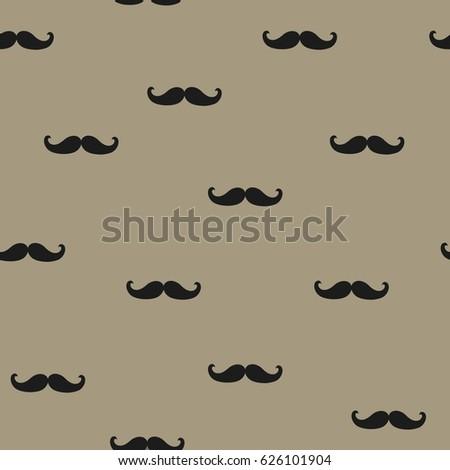 Mustache seamless pattern. Vector background. Foto d'archivio ©