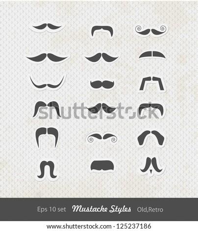 mustache set ( set of high quality mustache )