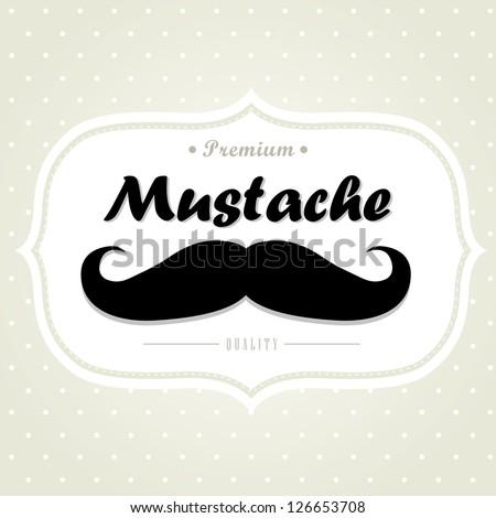 Mustache. Vector.