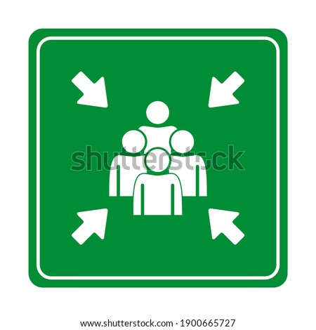 Muster Point sign on ehite background Stock foto ©