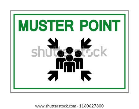 Muster Point Symbol Sign, Vector Illustration, Isolate On White Background Icon. EPS10 Stock foto ©
