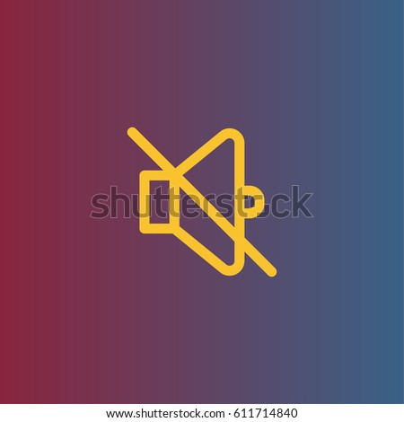 Mute icon. Silence vector