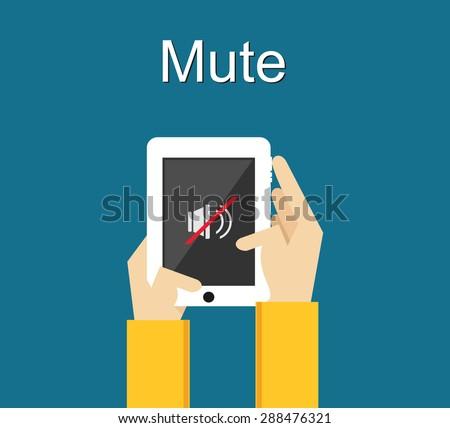 mute illustration flat design