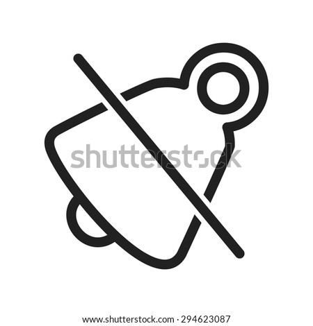 mute  silent  alarm icon vector
