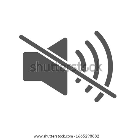 Mute sound icon vector, filled flat sign. Speaker mute symbol, logo illustration. Volume off icon. EPS 10 Сток-фото ©