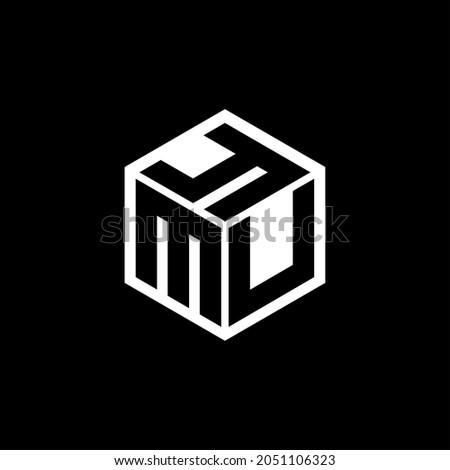 MUY letter logo design with black background in illustrator, vector logo modern alphabet font overlap style. calligraphy designs for logo, Poster, Invitation, etc. Foto stock ©