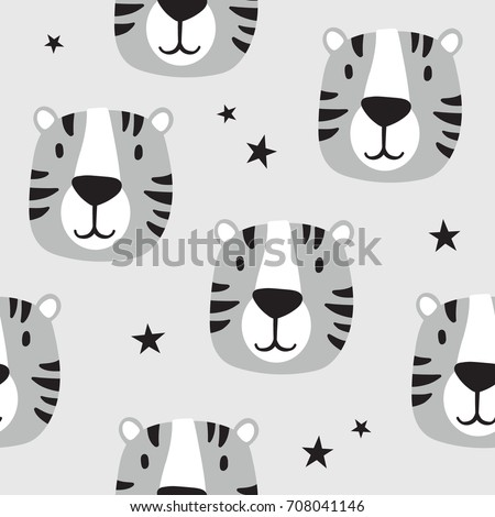 muzzle of tigers and stars